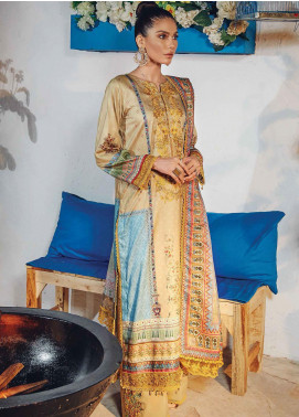Florence by Rang Rasiya Embroidered Cottel Linen Unstitched 3 Piece Suit RR20LF 629 Vuzeil - Festive Collection