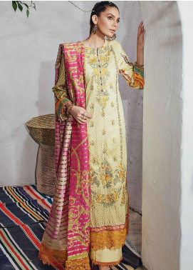 Florence by Rang Rasiya Embroidered Cottel Linen Unstitched 3 Piece Suit RR20LF 632 Pitari - Festive Collection