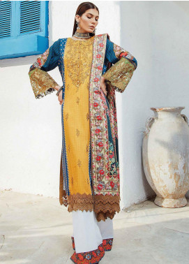 Florence by Rang Rasiya Embroidered Cottel Linen Unstitched 3 Piece Suit RR20LF 635 Sardai - Festive Collection