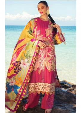 Rang Rasiya Embroidered Lawn Unstitched 3 Piece Suit RR20L 102 - Luxury Collection