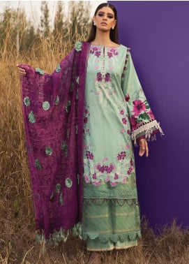 Rang Rasiya Embroidered Lawn Unstitched 3 Piece Suit RR20L 105 - Luxury Collection