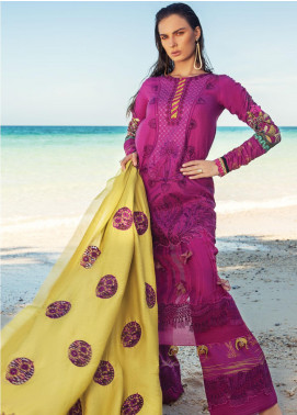Rang Rasiya Embroidered Lawn Unstitched 3 Piece Suit RR20L 108 - Luxury Collection