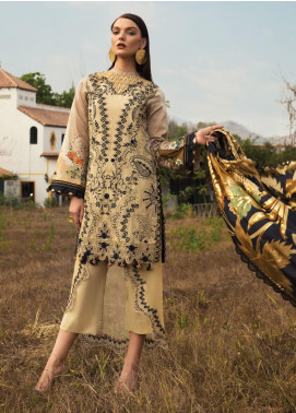 Rang Rasiya Embroidered Lawn Unstitched 3 Piece Suit RR20L 111 - Luxury Collection
