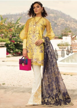 Rang Rasiya Embroidered Lawn Unstitched 3 Piece Suit RR20L 112 - Luxury Collection