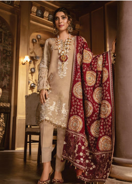 Rang Rasiya Embroidered Linen Unstitched 3 Piece Suit RR19W 1303 - Winter Collection