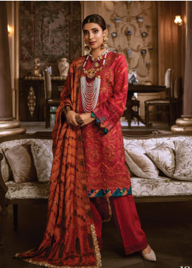 Rang Rasiya Embroidered Linen Unstitched 3 Piece Suit RR19W 1304 - Winter Collection
