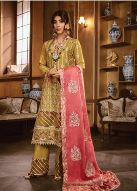 Rang Rasiya Embroidered Dobby Unstitched 3 Piece Suit RR19W 1305 - Winter Collection