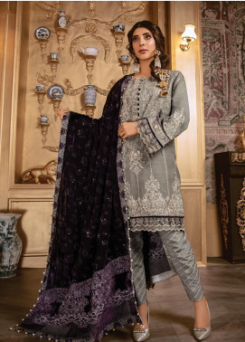 Rang Rasiya Embroidered Dobby Unstitched 3 Piece Suit RR19W 1306 - Winter Collection
