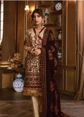 Rang Rasiya Embroidered Dobby Unstitched 3 Piece Suit RR19W 1307 - Winter Collection