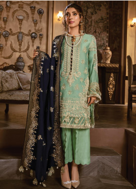 Rang Rasiya Embroidered Linen Unstitched 3 Piece Suit RR19W 1309 - Winter Collection