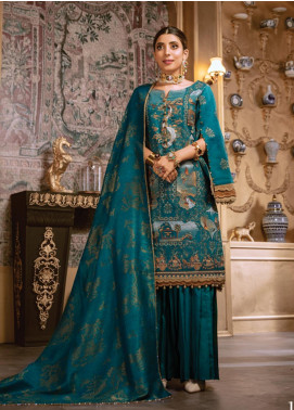 Rang Rasiya Embroidered Linen Unstitched 3 Piece Suit RR19W 1313 - Winter Collection