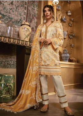 Rang Rasiya Embroidered Dobby Unstitched 3 Piece Suit RR19W 1314 - Winter Collection