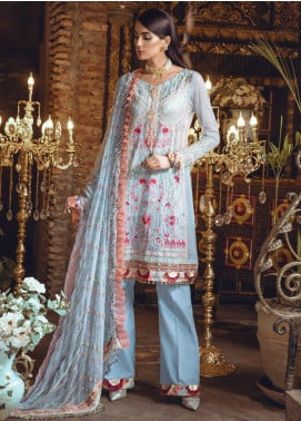 Rang Rasiya Embroidered Chiffon Unstitched 3 Piece Suit RR19MN 901 - Luxury Collection