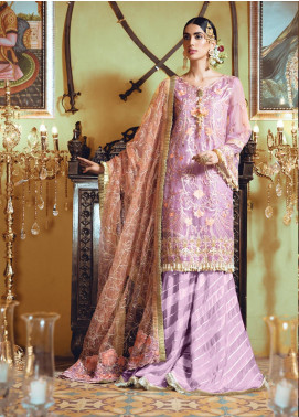 Rang Rasiya Embroidered Organza Unstitched 3 Piece Suit RR19MN 904 - Luxury Collection