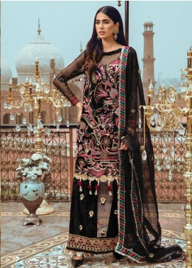Rang Rasiya Embroidered Chiffon Unstitched 3 Piece Suit RR19MN 905 - Luxury Collection