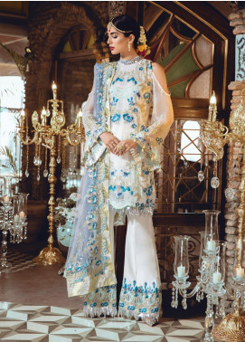 Rang Rasiya Embroidered Chiffon Unstitched 3 Piece Suit RR19MN 906 - Luxury Collection