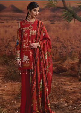 Rang Rasiya Embroidered Lawn Unstitched 3 Piece Suit RR19L 5003A - Spring / Summer Collection