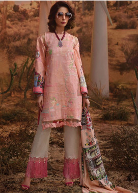 Rang Rasiya Embroidered Lawn Unstitched 3 Piece Suit RR19L 5009A - Spring / Summer Collection