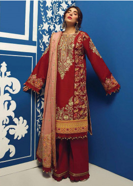 Rang Rasiya Embroidered Cotton Unstitched 3 Piece Suit RR20PW 154 Tehseel - Winter Collection