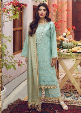 Rang Rasiya Embroidered Cotton Unstitched 3 Piece Suit RR20PW 156 Sanishq - Winter Collection