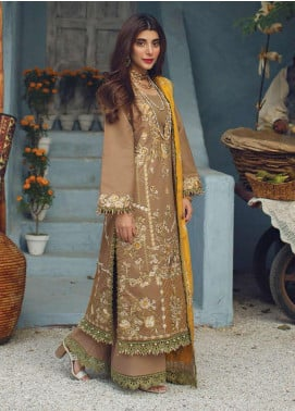 Rang Rasiya Embroidered Cotton Unstitched 3 Piece Suit RR20PW 161 Boleyn - Winter Collection