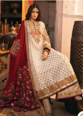 Heritage Collectables by Rang Rasiya Embroidered Net Unstitched 3 Piece Suit RR21HC 02 - Wedding Collection