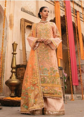 Heritage Collectables by Rang Rasiya Embroidered Organza Unstitched 3 Piece Suit RR21HC 04 PATEERAB - Wedding Collection