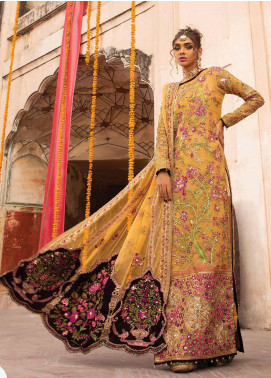 Heritage Collectables by Rang Rasiya Embroidered Organza Unstitched 3 Piece Suit RR21HC 06 DUARIKA - Wedding Collection