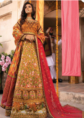 Heritage Collectables by Rang Rasiya Embroidered Taffeta Unstitched 3 Piece Suit RR21HC 07 - Wedding Collection