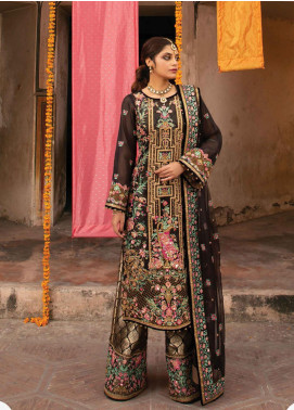 Heritage Collectables by Rang Rasiya Embroidered Organza Unstitched 3 Piece Suit RR21HC 09 CEEMAL - Wedding Collection