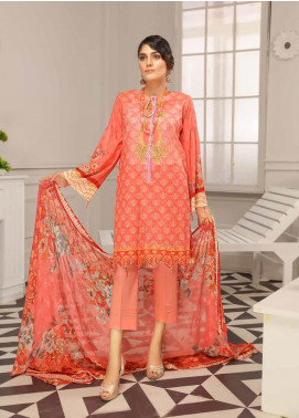 Range by Sanam Saeed Embroidered Lawn Unstitched 3 Piece Suit SS20L 02 - Summer Collection
