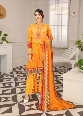 Range by Sanam Saeed Embroidered Lawn Unstitched 3 Piece Suit SS20L 06 - Summer Collection