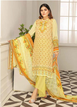 Range by Sanam Saeed Embroidered Lawn Unstitched 3 Piece Suit SS20L 08 - Summer Collection