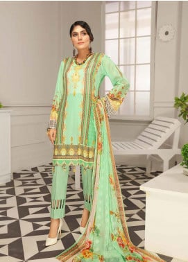 Range by Sanam Saeed Embroidered Lawn Unstitched 3 Piece Suit SS20L 09 - Summer Collection