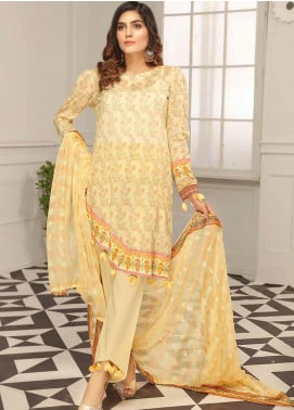 Range by Sanam Saeed Embroidered Lawn Unstitched 3 Piece Suit SS20L 10 - Summer Collection