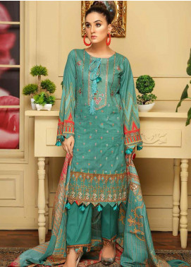 Rangoli by Sanam Saeed Embroidered Lawn Unstitched 3 Piece Suit RSS20SL 08 - Summer Colletion