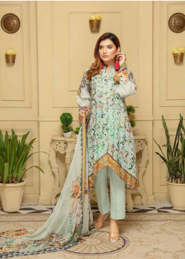 Rangoli by Sanam Saeed Embroidered Lawn Unstitched 3 Piece Suit RSS20L 02 - Summer Collection