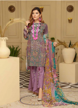 Rangoli by Sanam Saeed Embroidered Lawn Unstitched 3 Piece Suit RSS20L 05 - Summer Collection
