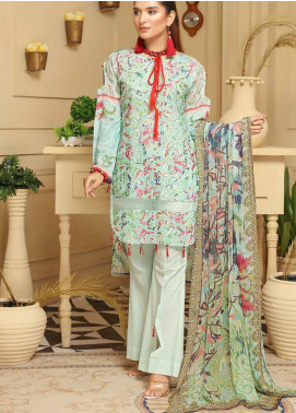 Rangoli by Sanam Saeed Embroidered Lawn Unstitched 3 Piece Suit RSS20L 09 - Summer Collection