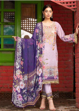 Rangoli by Shamira Embroidered Lawn Unstitched 3 Piece Suit SHR20N 6 - Summer Collection