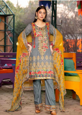 Rangoli by Shamira Embroidered Lawn Unstitched 3 Piece Suit SHR20N 8 - Summer Collection
