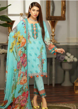 Rangoli by Puri Fabrics Embroidered Lawn Unstitched 3 Piece Suit PF20RG 2 - Summer Collection
