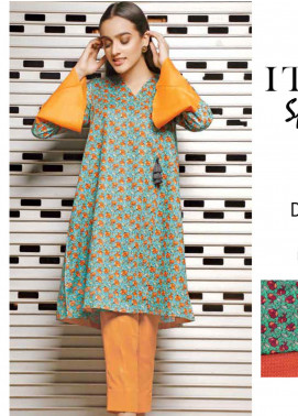 Rangoli by Ittehad Textiles Printed Lawn Unstitched 2 Piece Suits IT20R 43A - Spring / Summer Collection