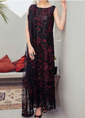 Rangoon by Ramsha Embroidered Chiffon Unstitched 3 Piece Suit RSH20-R6 601 MIDNIGHT GLAMOR - Luxury Collection