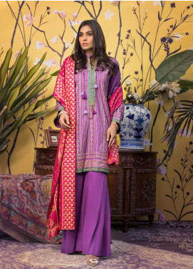 ZS Textile Printed Banarsi Unstitched 3 Piece Suit RZS20B 05 - Spring / Summer Collection