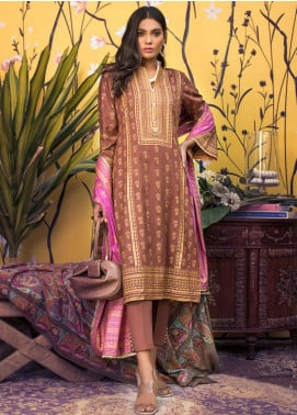 ZS Textile Printed Banarsi Unstitched 3 Piece Suit RZS20B 06 - Spring / Summer Collection