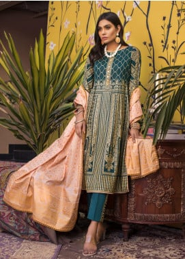 ZS Textile Printed Banarsi Unstitched 3 Piece Suit RZS20B 07 - Spring / Summer Collection