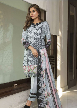 Rangreza Embroidered Lawn Unstitched 3 Piece Suit RZS19L 06A - Spring / Summer Collection