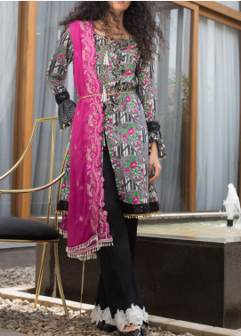 RangReza ZS Textile Embroidered Cotton Unstitched 3 Piece Suit ZS20R 09 - Mid Summer Collection