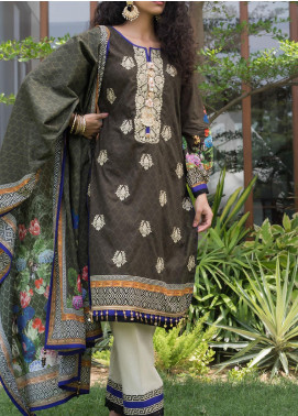 RangReza ZS Textile Embroidered Cotton Unstitched 3 Piece Suit ZS20R 12 - Mid Summer Collection